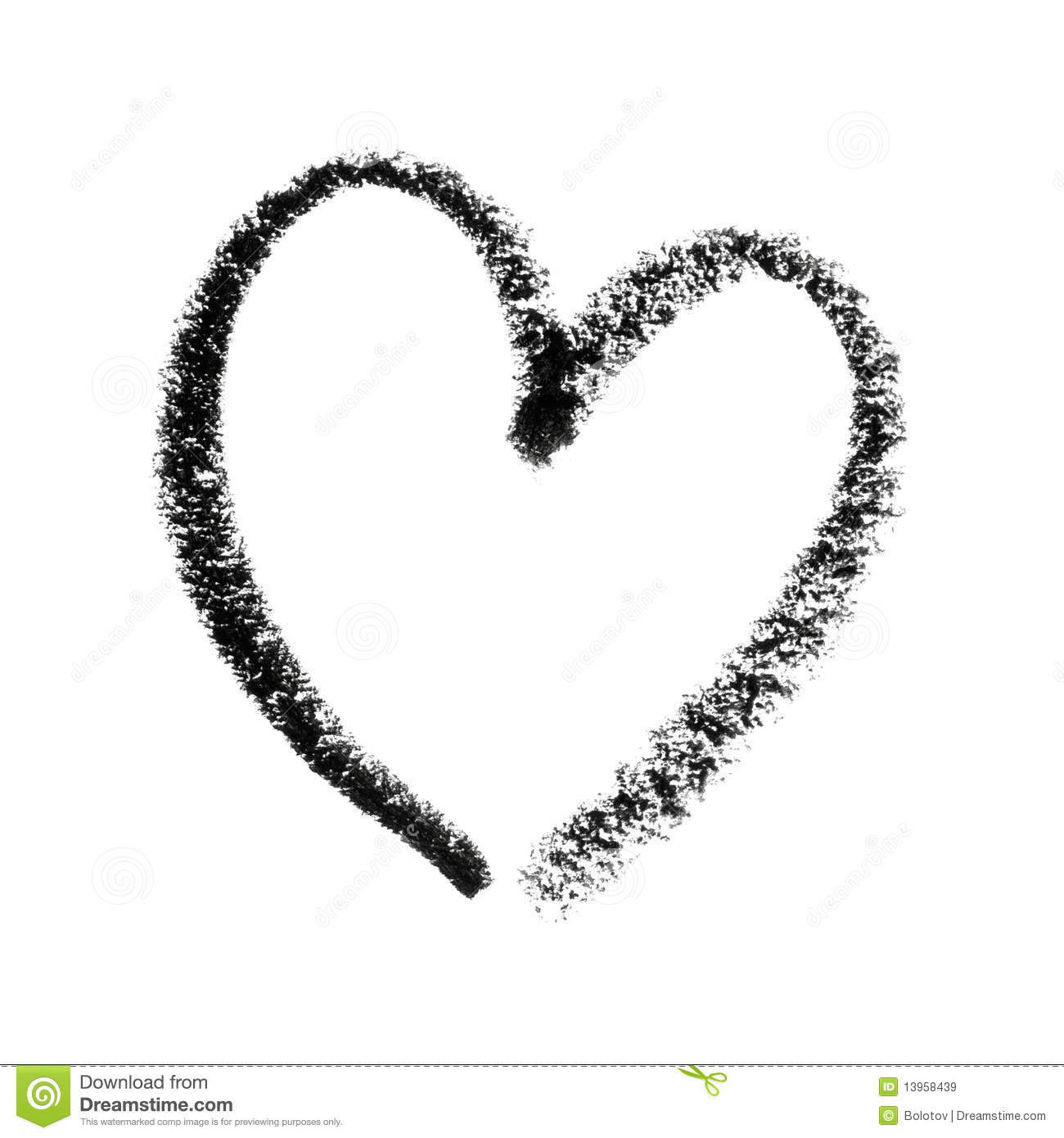 Painted Heart Symbol Outline Stock Illustration Illustration Of