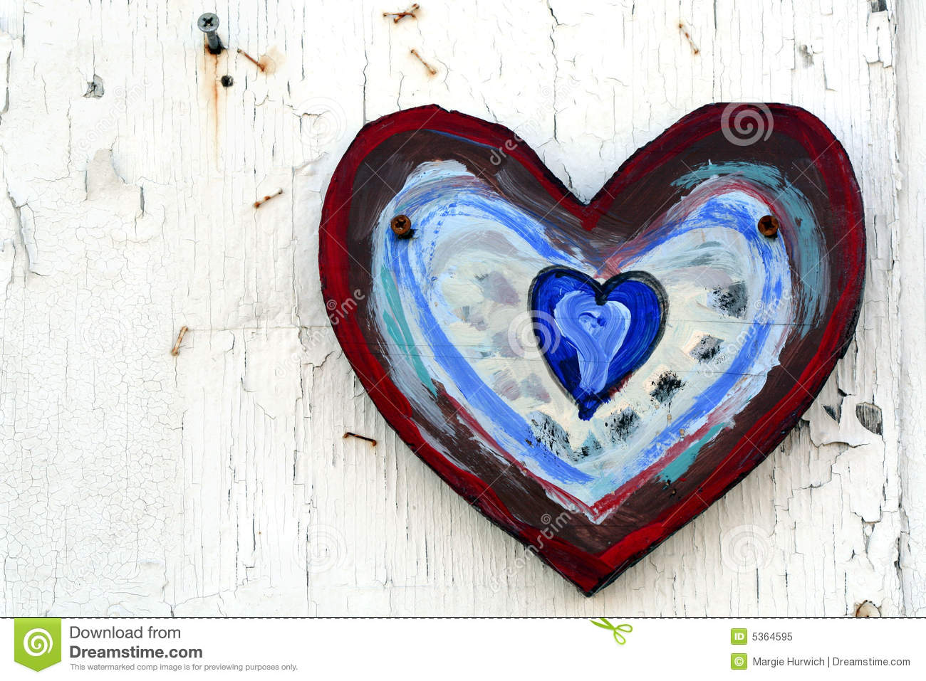 Painted Heart On Wall Stock Image Image Of Painted Design 5364595