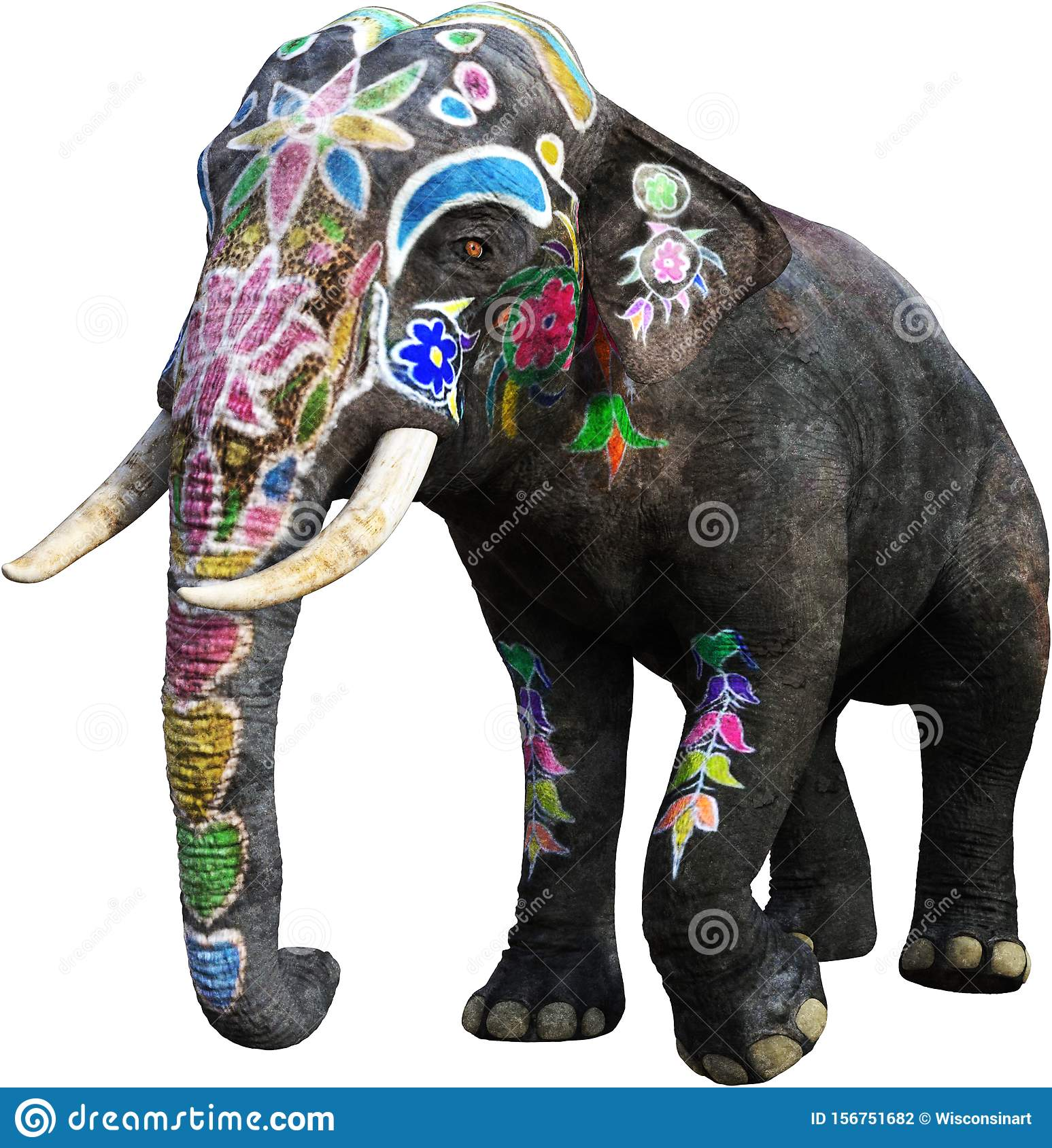 Painted India Elephant India Isolated Stock Photo Illustration Of File Painted 156751682 Elephant print illustration, india elephant, indian elephant pattern background, mammal, animals, carnivoran png. https www dreamstime com painted india elephant isolated illustration indian animal asia white png file available image156751682