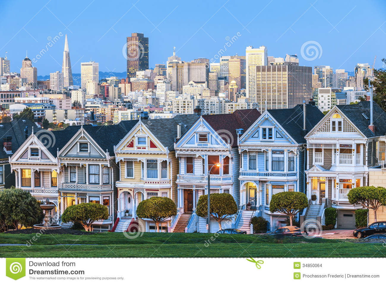 The Painted Ladies Of San Francisco Stock Photo Image