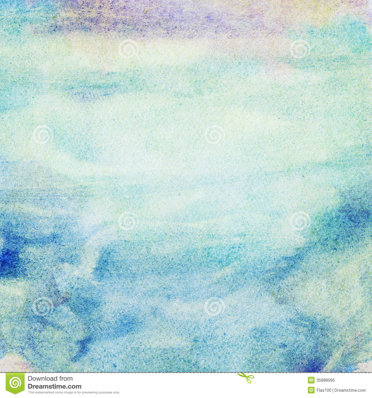 Abstract Green Blue White Paint Background