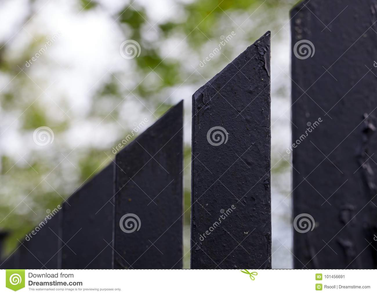 Painted metal fence stock image  Image of oldfashioned - 101456691