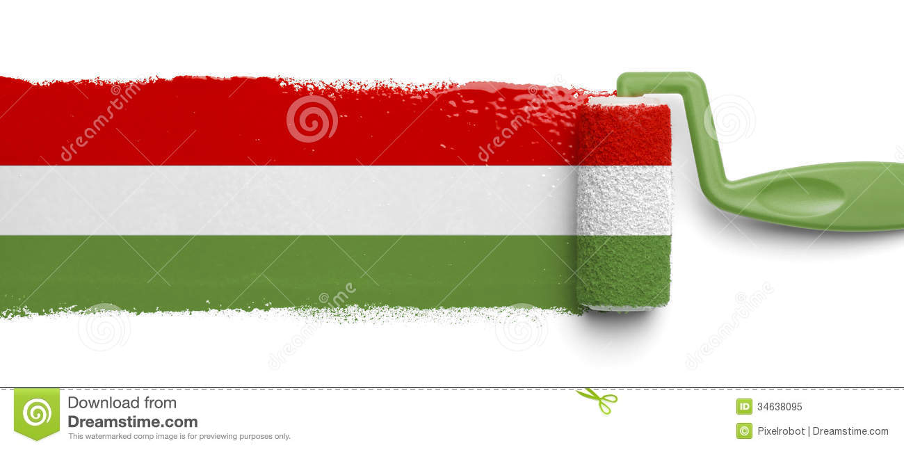 Painted Mexican Flag Royalty Free Stock Photo Image