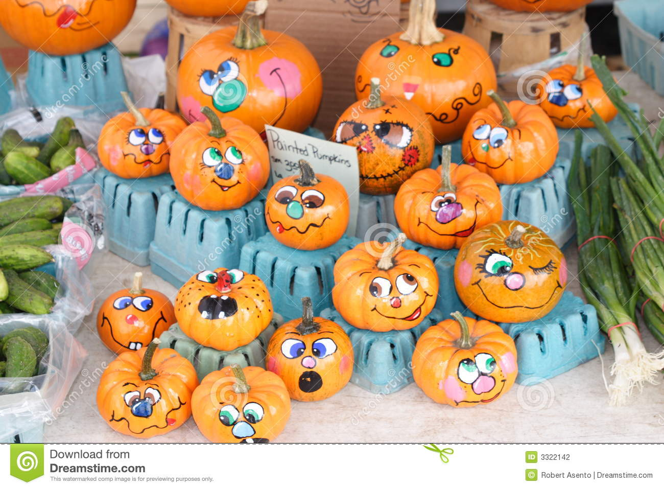 Funny Face Pumpkin Painting