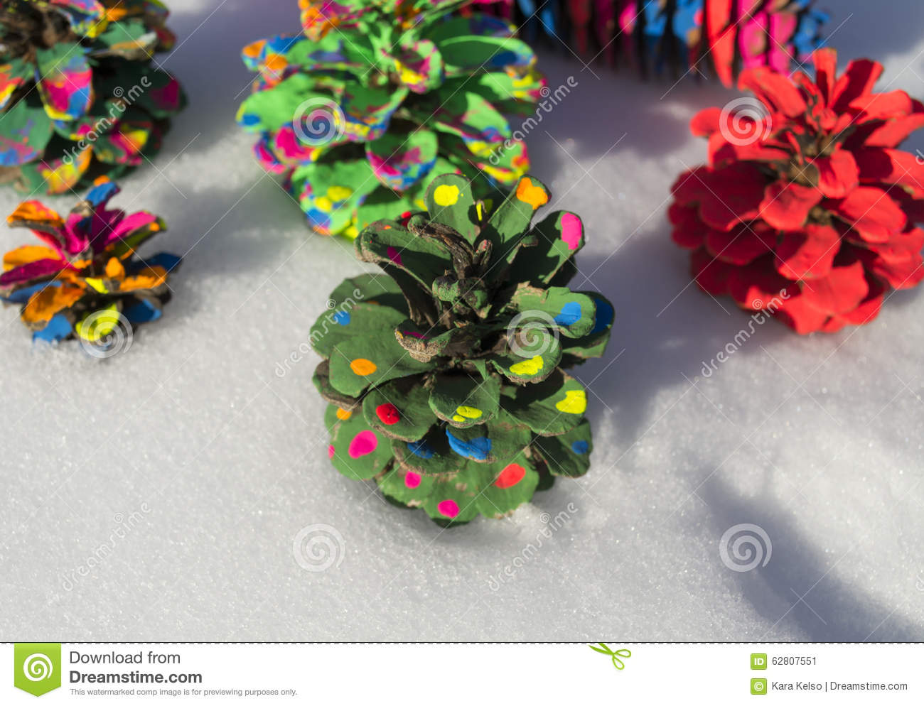 painted pine cone christmas tree stock photo image 62807551