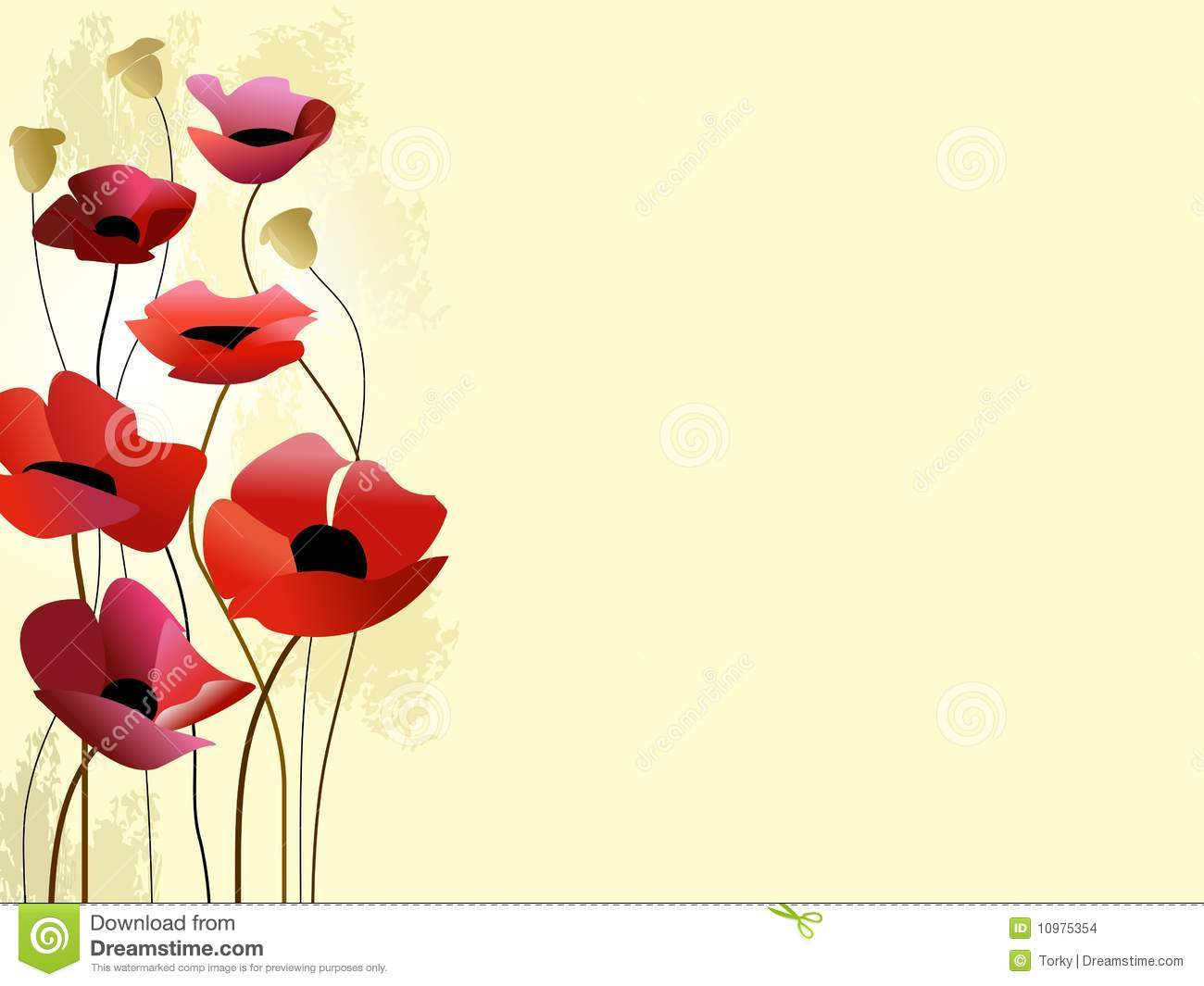 painted poppies background stock vector  image of holliday