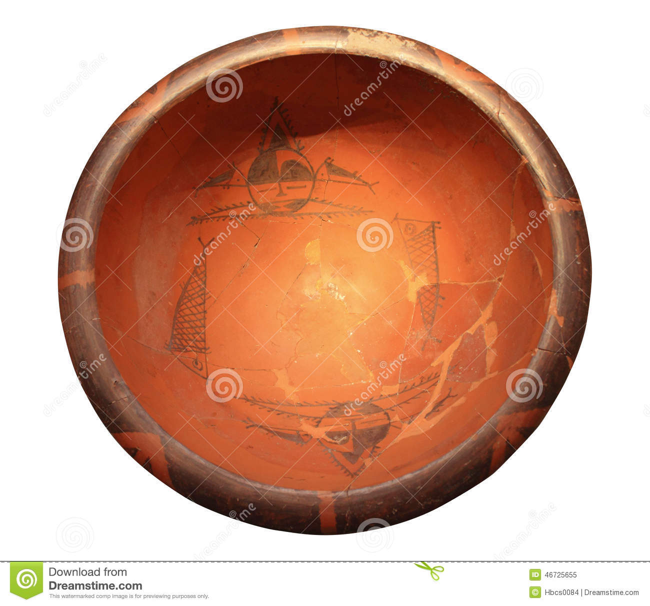 Painted pottery basin stock image image of body buried 46725655 royalty free stock photo reviewsmspy