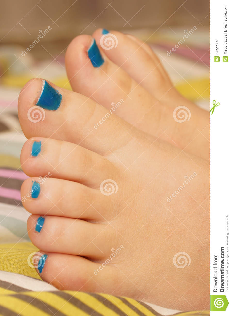 Painted short toenails stock photo. Image of painted - 24656478