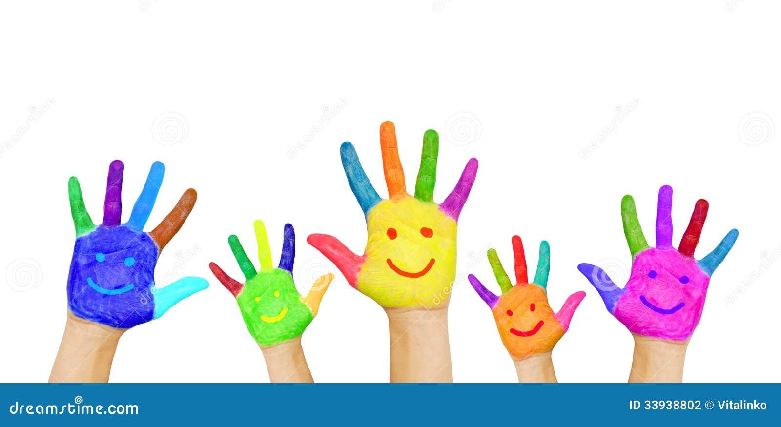 Painting Hands With Pre School Children