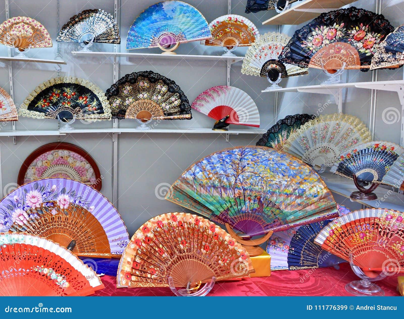 Painted Spanish Hand Fan