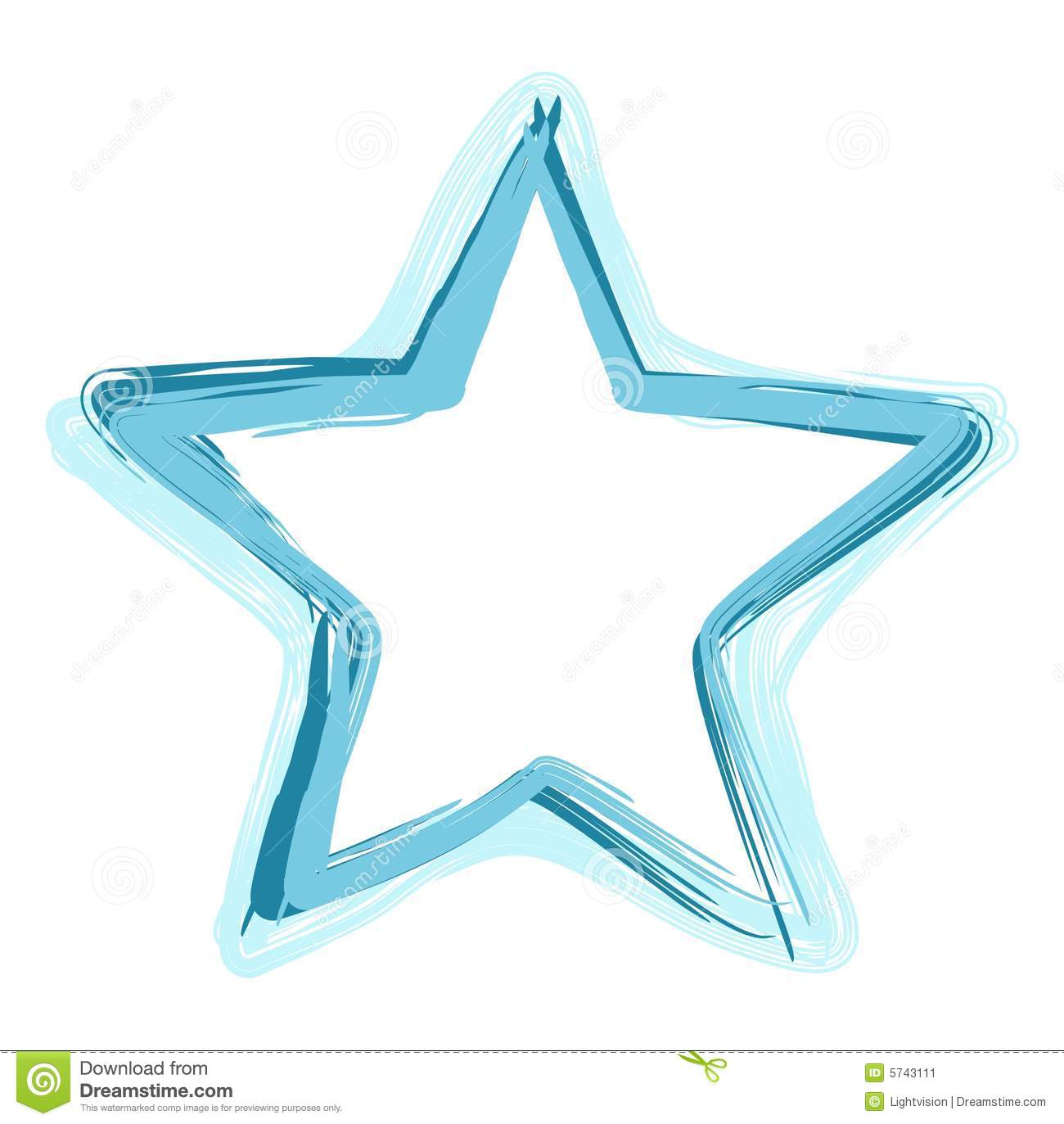 Fun and abstract star illustration. has a hand painted/brushed look ...