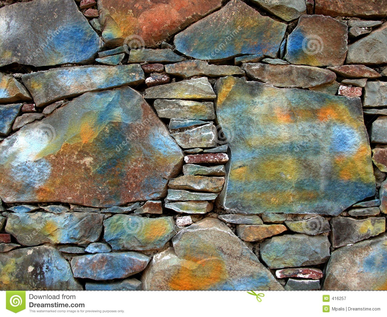 painted stone wall stock image image of bricks rocky 416257. Black Bedroom Furniture Sets. Home Design Ideas