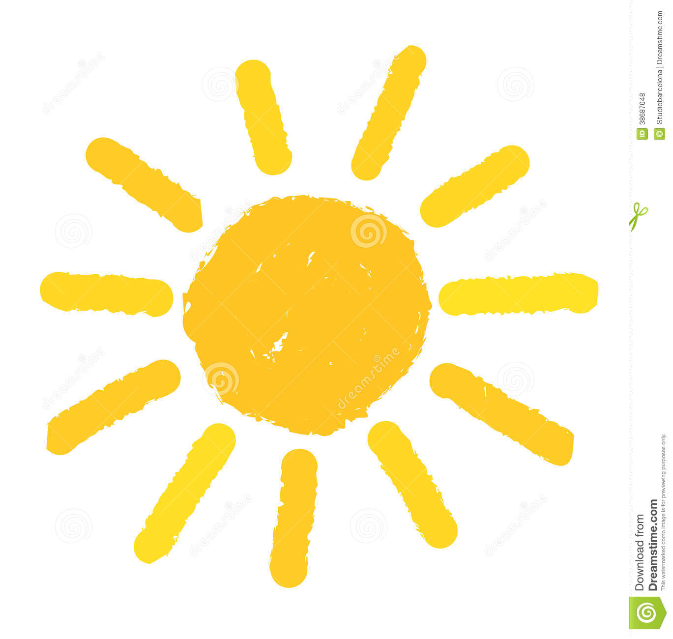 Painted Sun Illustration Royalty Free Stock Photos - Image: 38687048