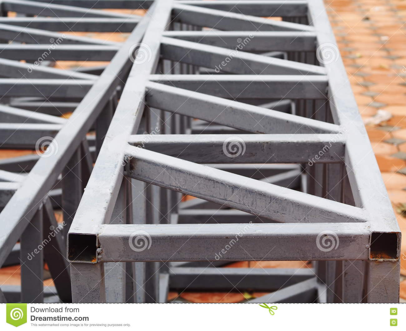 Painted Truss Space Frame Made From Welded Metal Steel ...