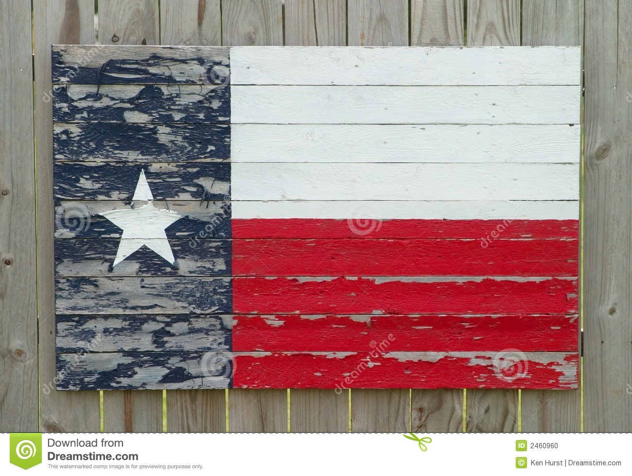 Painted Wood Texas Flag Stock Photo Image Of Paint