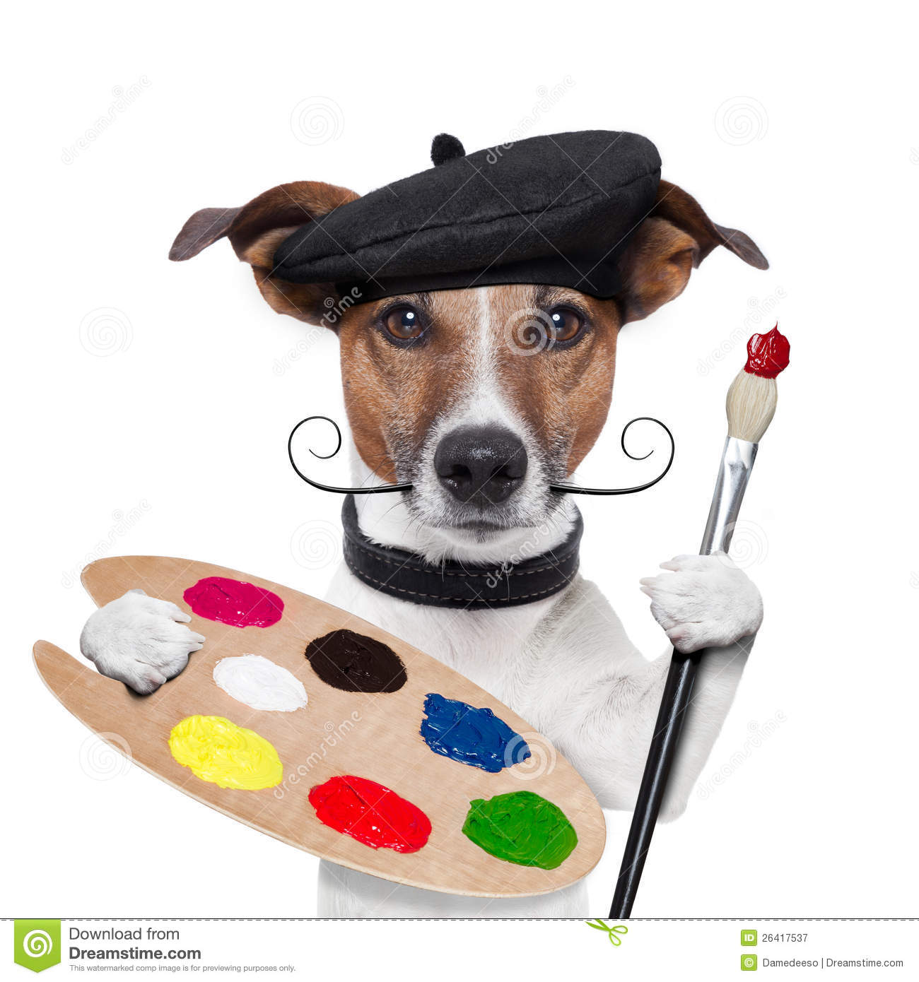 Painter Artist Dog Royalty Free Stock Photography - Image: 26417537