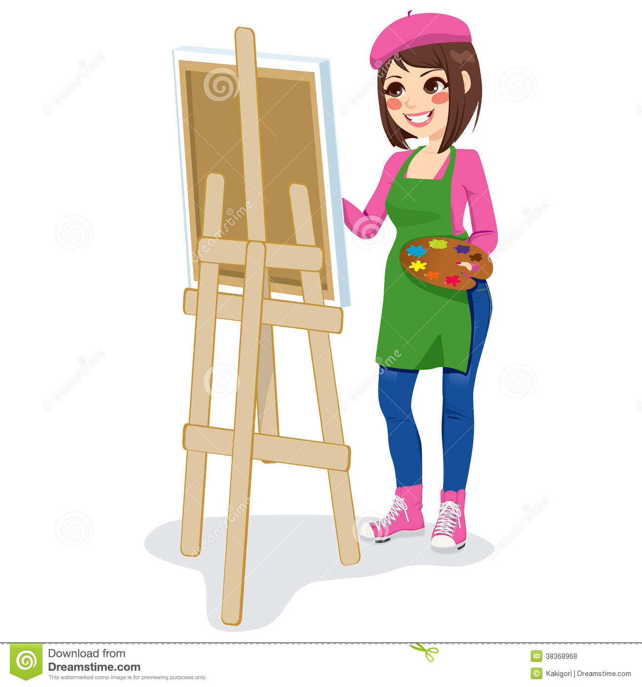 Painter Artist Woman Royalty Free Stock Photos - Image ...