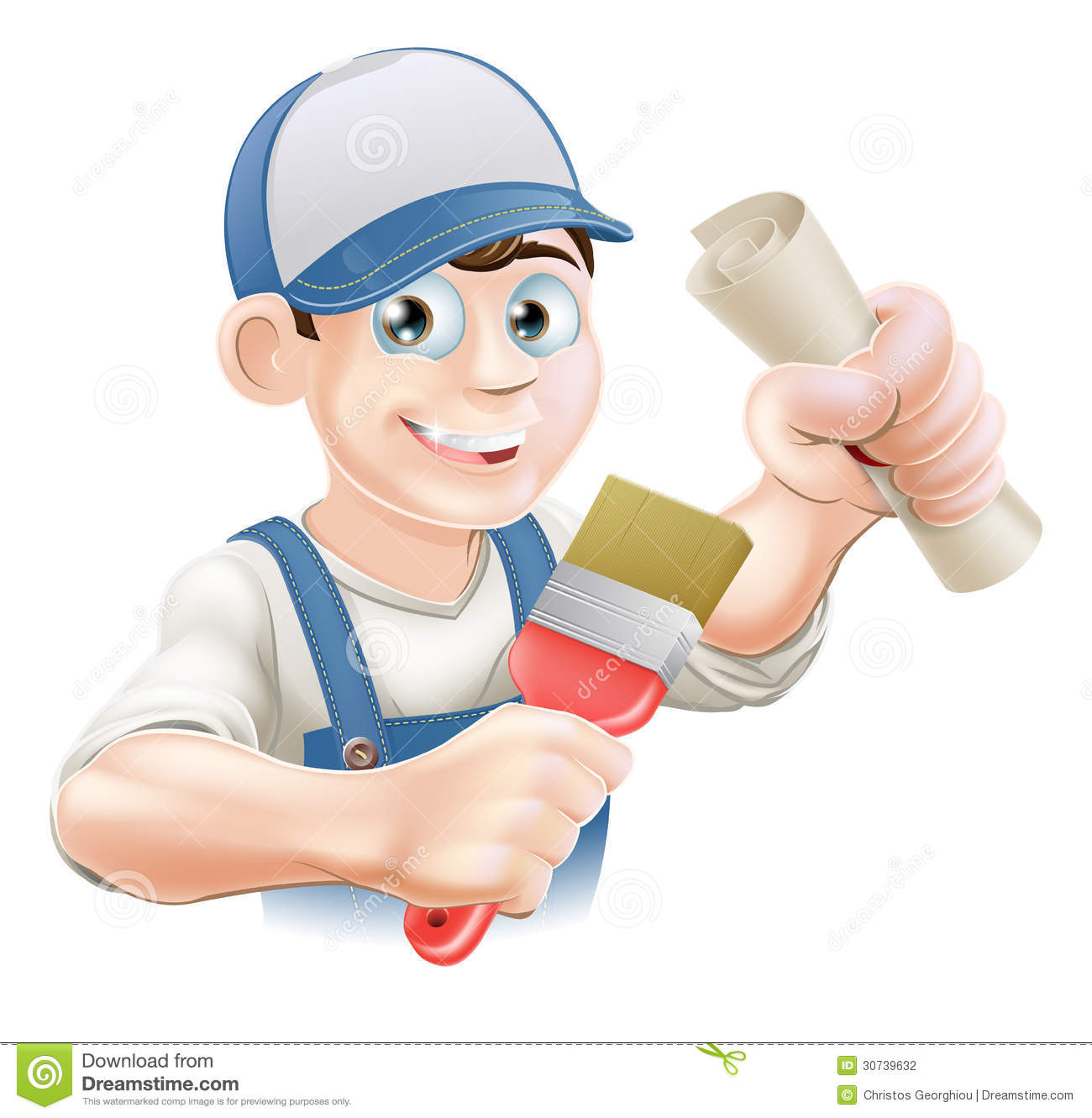 Painter Decorator Sign Stock Vector: Painter Decorator Training Stock Vector. Image Of Course