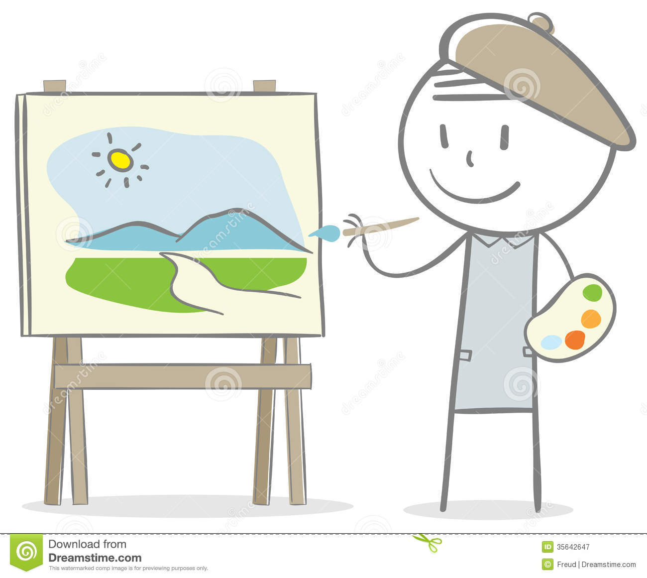 Painter Royalty Free Stock Photography - Image: 35642647