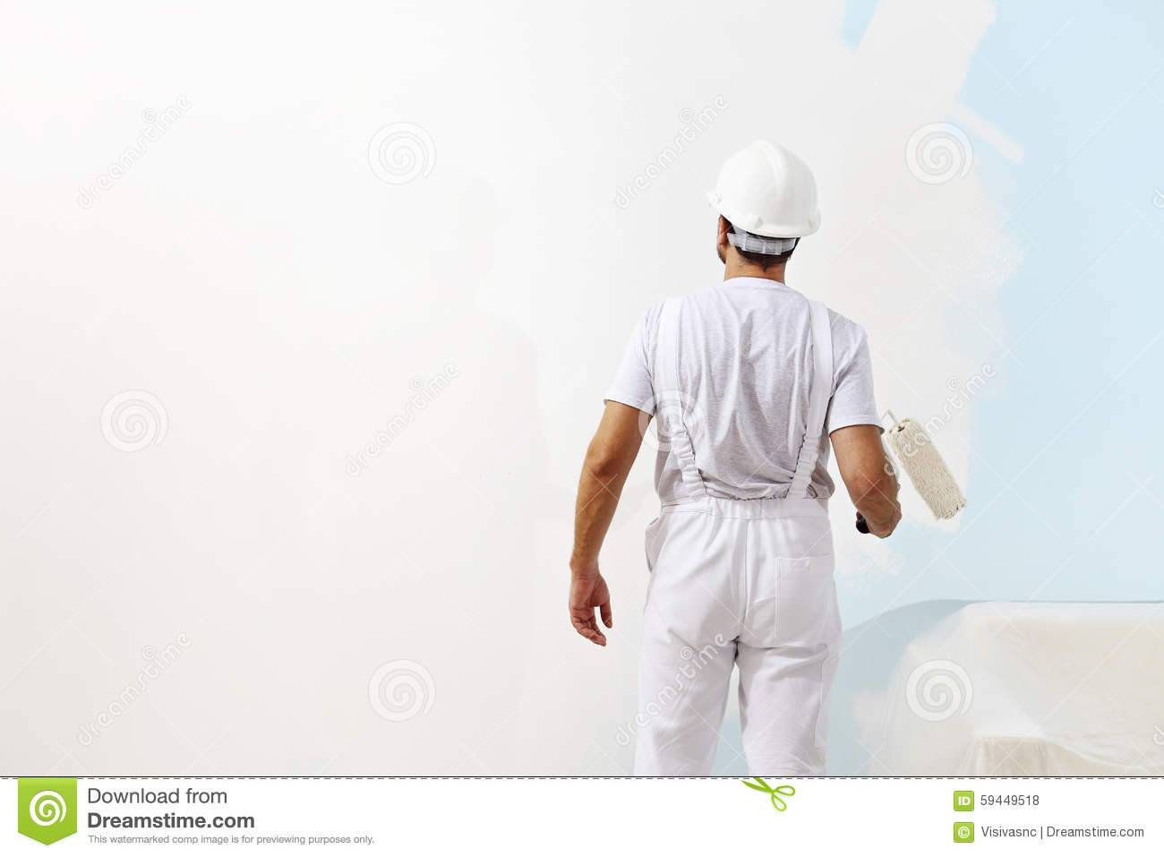 Painter Painting Wall Stock Photo - Image: 46381229
