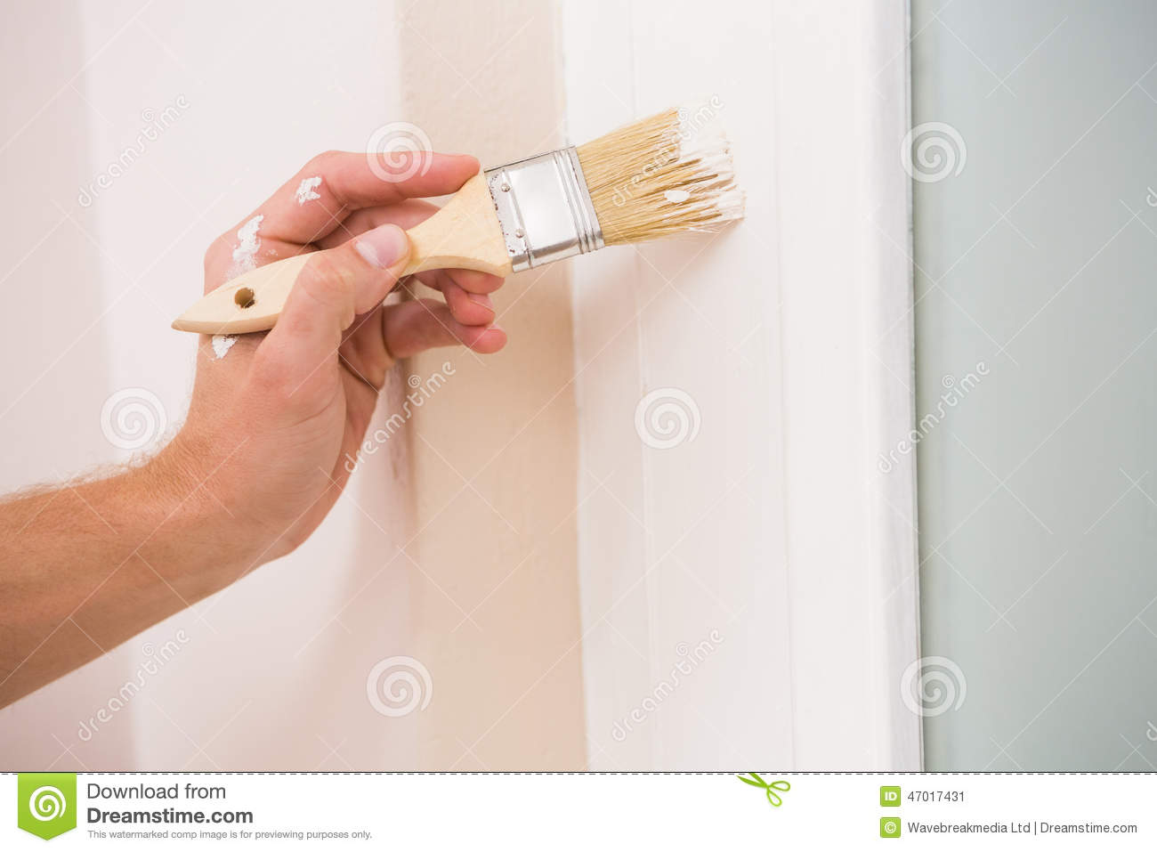 How To how to paint a door with a roller images : Painter Painting The Door White Stock Image - Image of industry ...