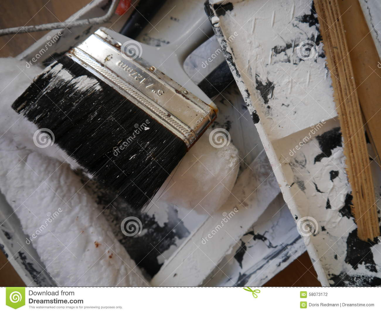 Painter Painting Tools Color Equipment Stock Photo Image Of Wall