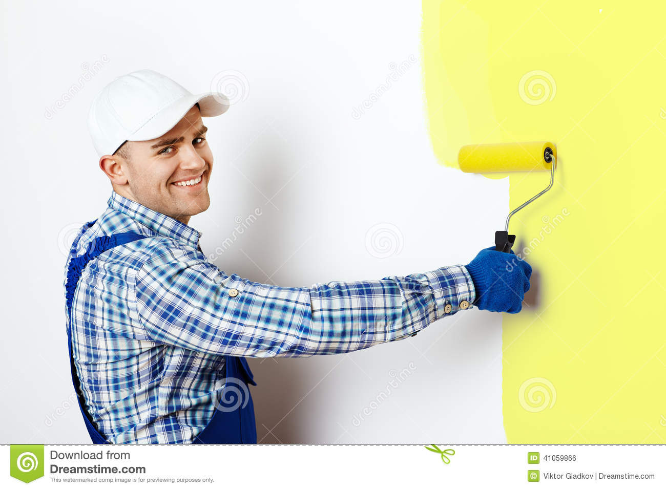 Painter Painting A Wall Stock Photo Image 41059866