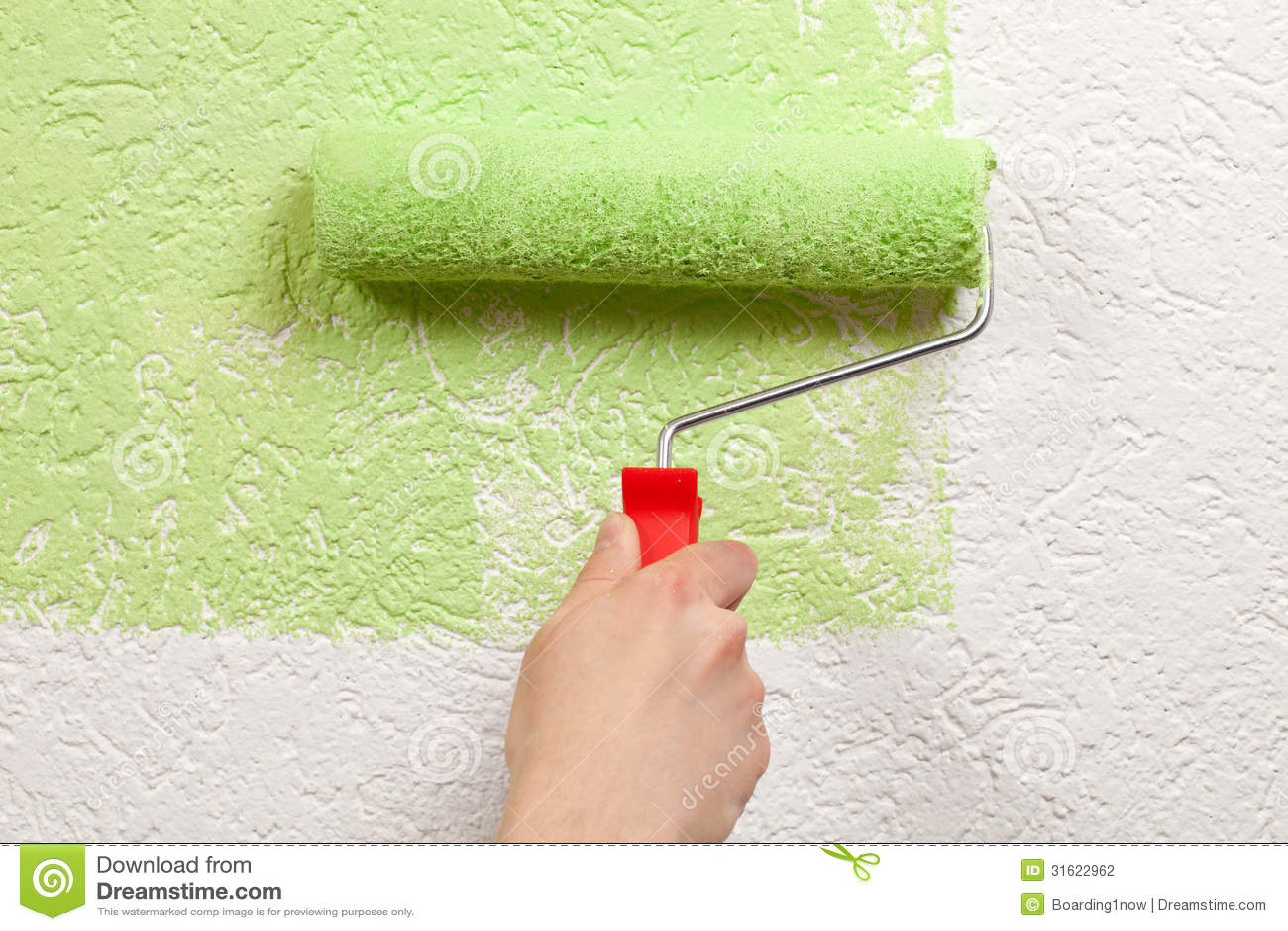 Покраска обоев своими руками