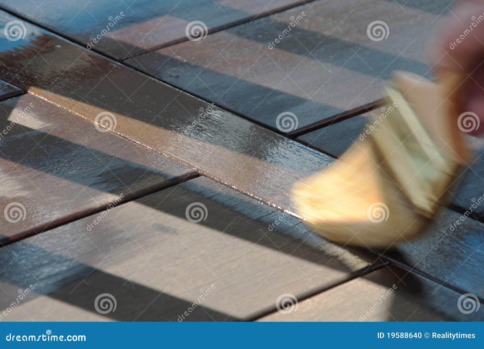 Painter s Brush Staining Deck