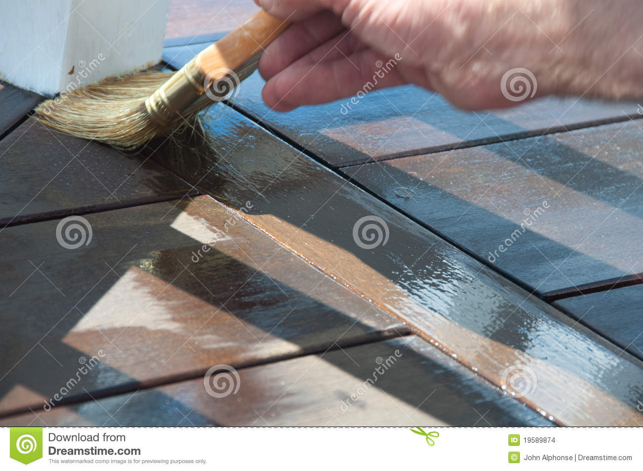 Painter s Brush Staining Deck