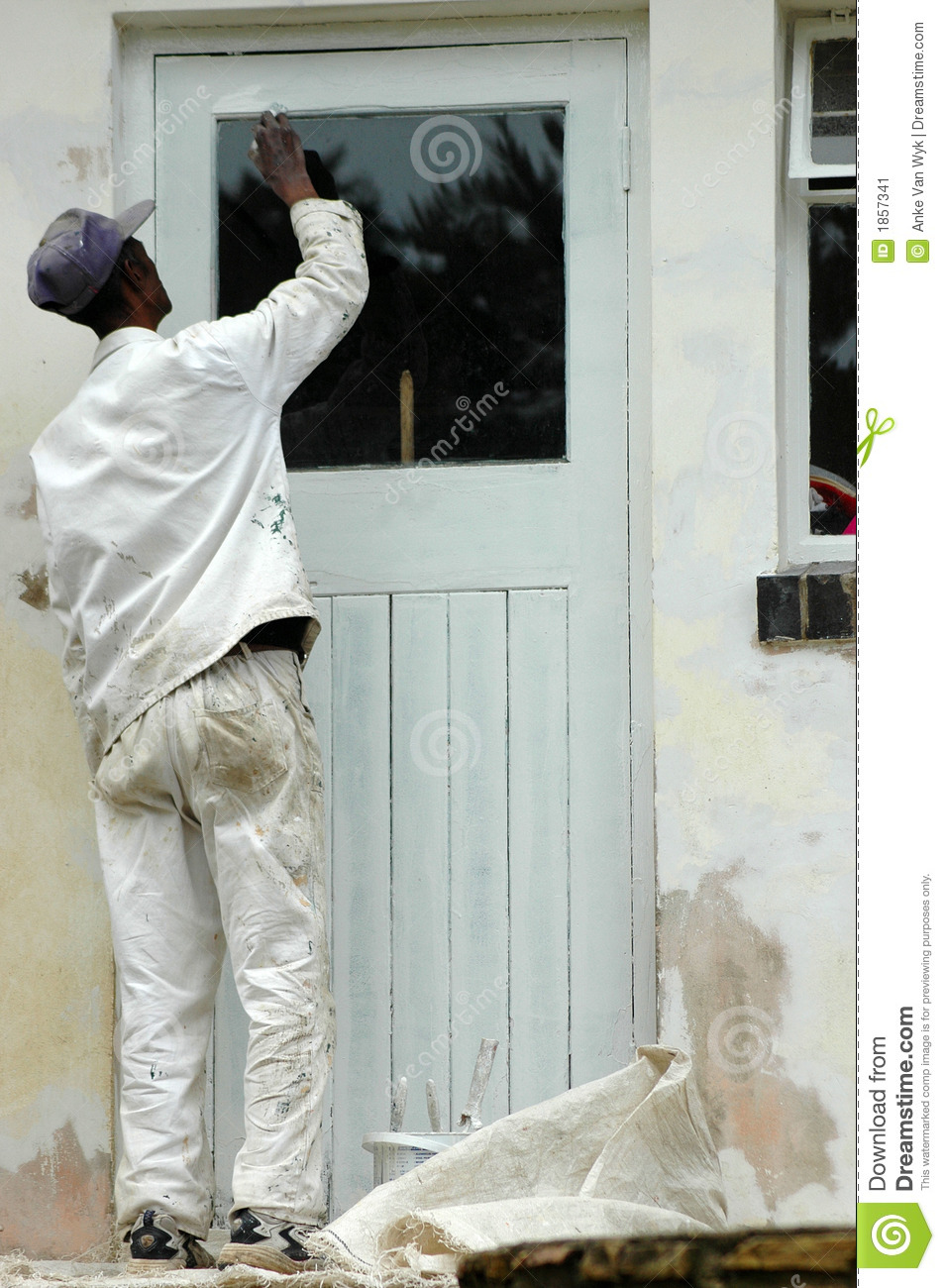 Painter Working Stock Image Image Of Busy Make Outdoors