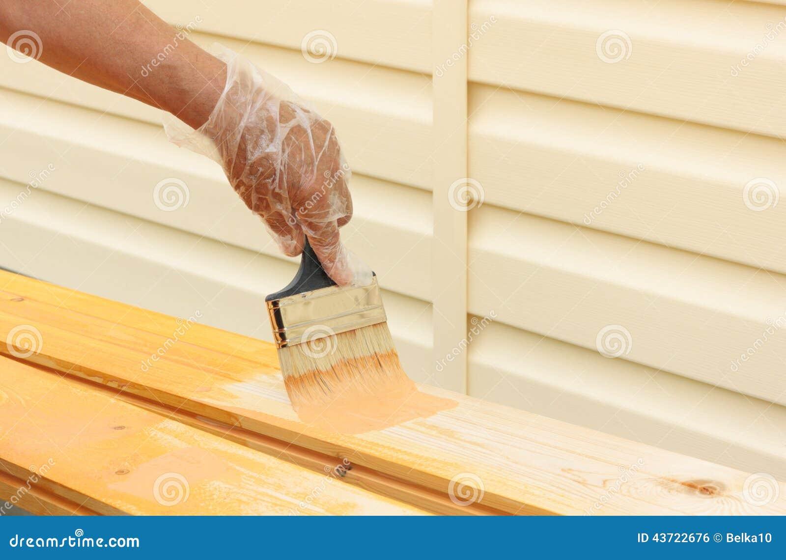 Painting Enamel On Bare Wood