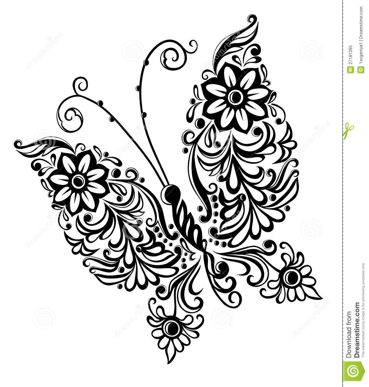 Painting Butterfly,swirl Abstract Element Design Royalty Free Stock ...