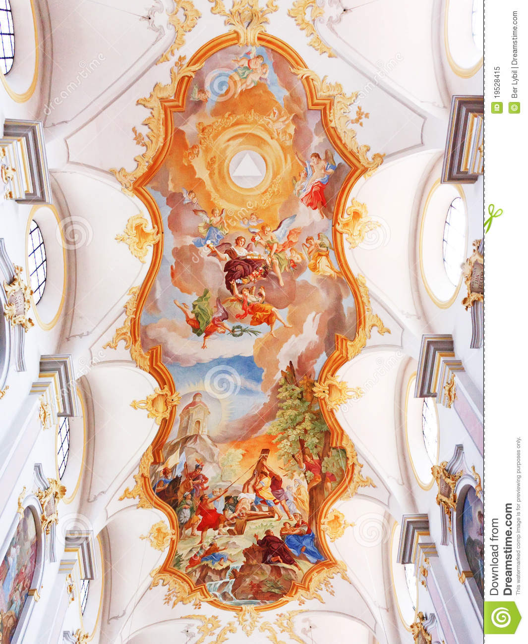 Painting On The Church S Ceiling Stock Image Image 19528415