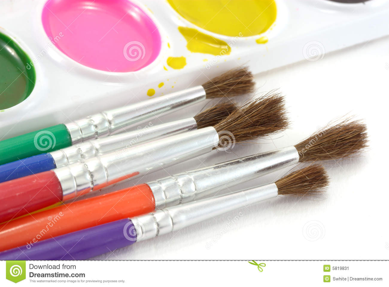 Painting Color painting color. stock image - image: 5819831