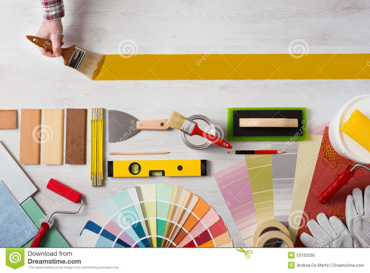 Painter And Decorator Prices >> Painting And Decorating DIY Banner Stock Photo - Image: 53163336
