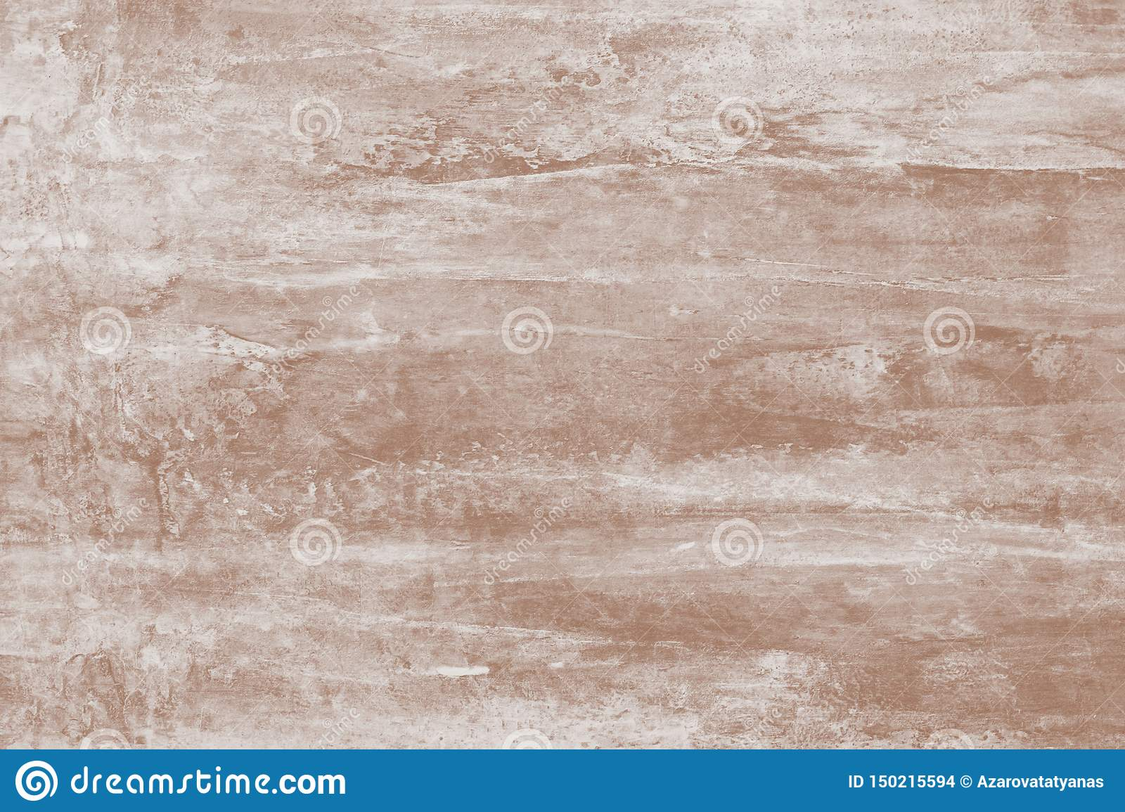 Painting, drawing. Abstract paint pattern of light brown with stains. Soft brown background of canvas. Illustration with blots on
