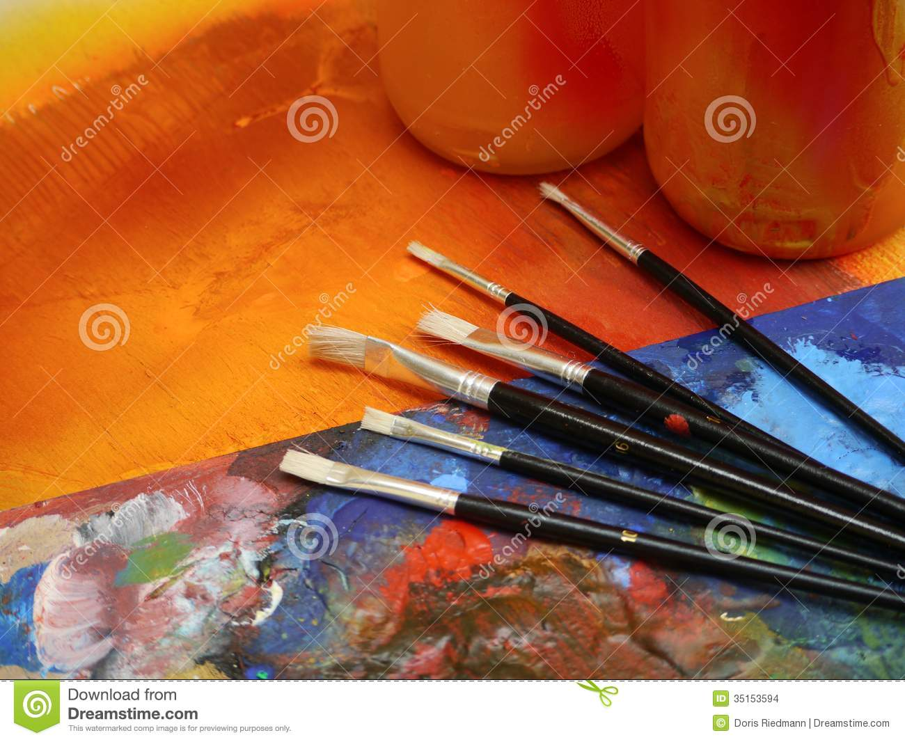 Painting drawing artist tools painting fun stock photo 35153594 megapixl