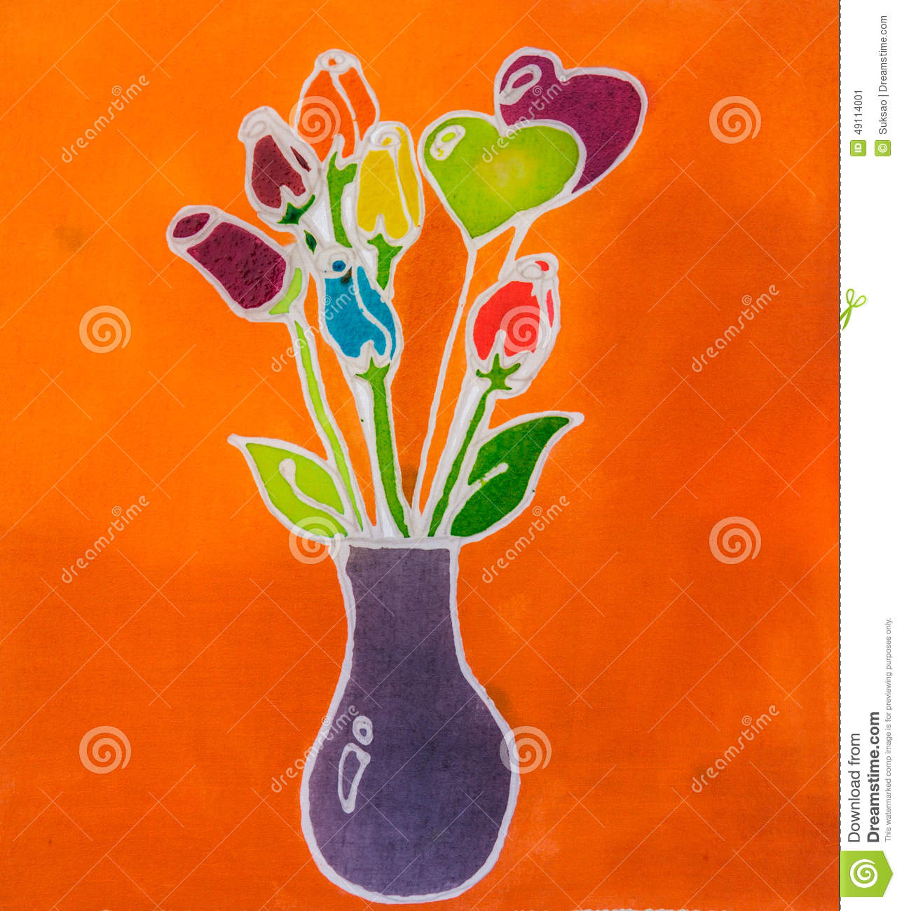 Painting flower vase stock image image of flower cute 49114001 painting flower vase cute paintbrush floridaeventfo Images