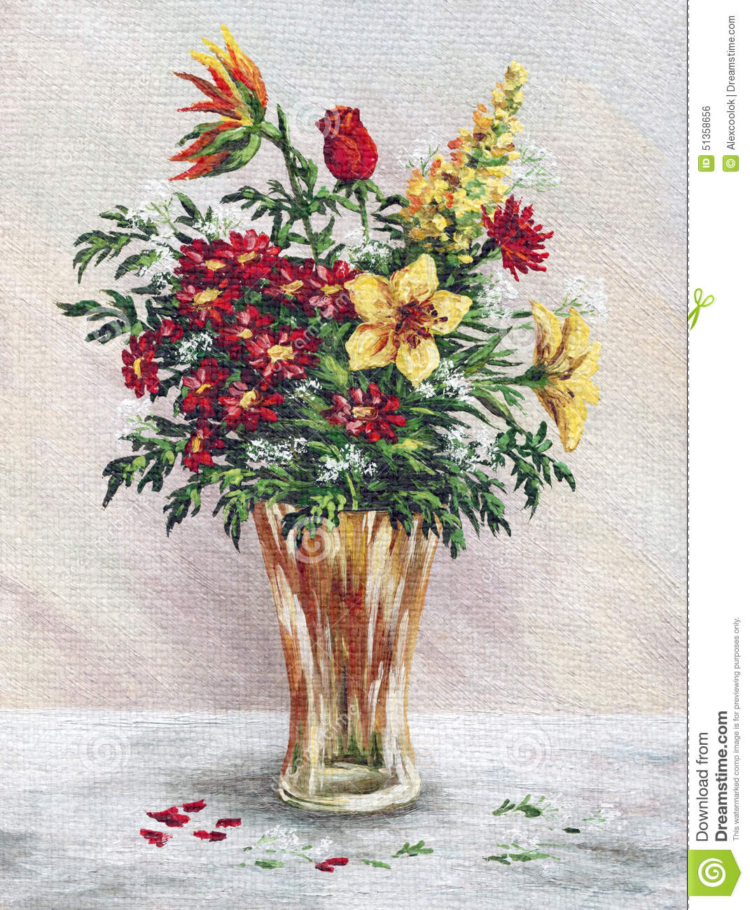 Painting flowers in a glass vase stock illustration illustration painting flowers in a glass vase reviewsmspy