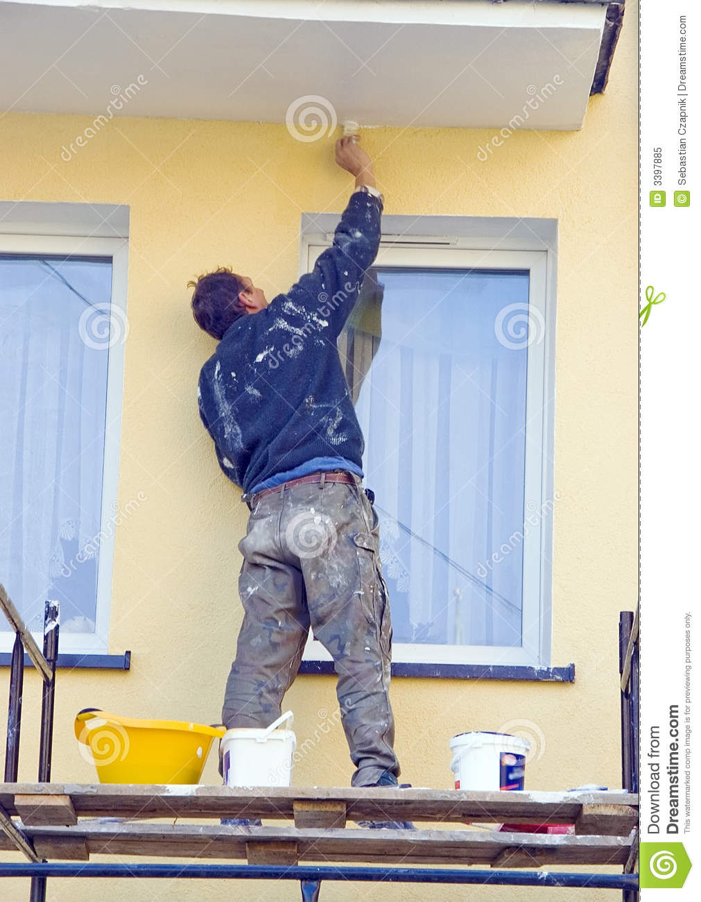 painting house facade royalty free stock photo image 3397885