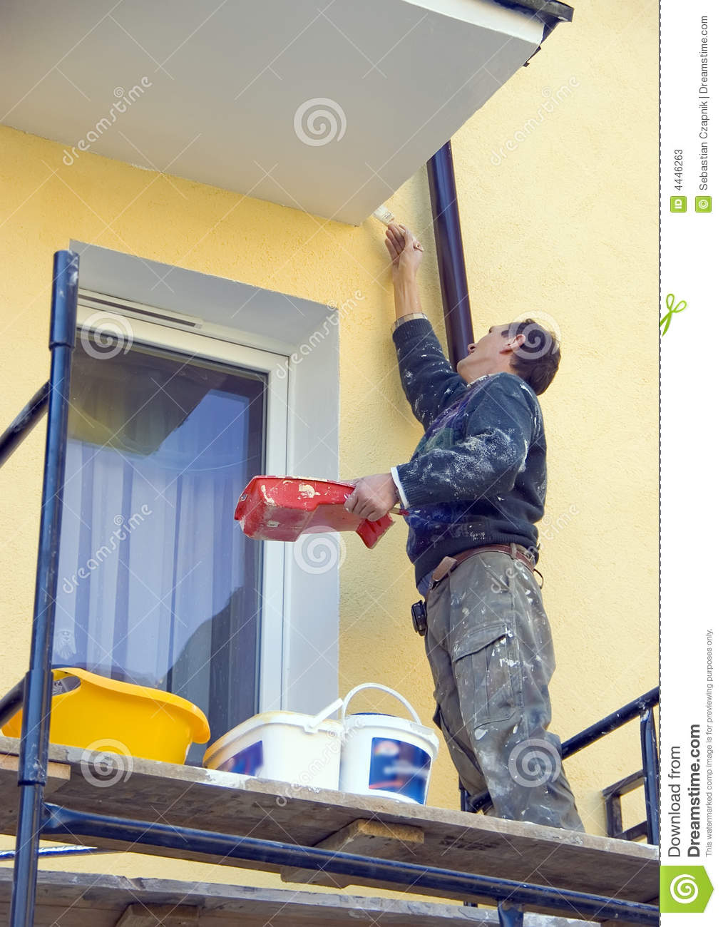 painting house facade stock photos image 4446263
