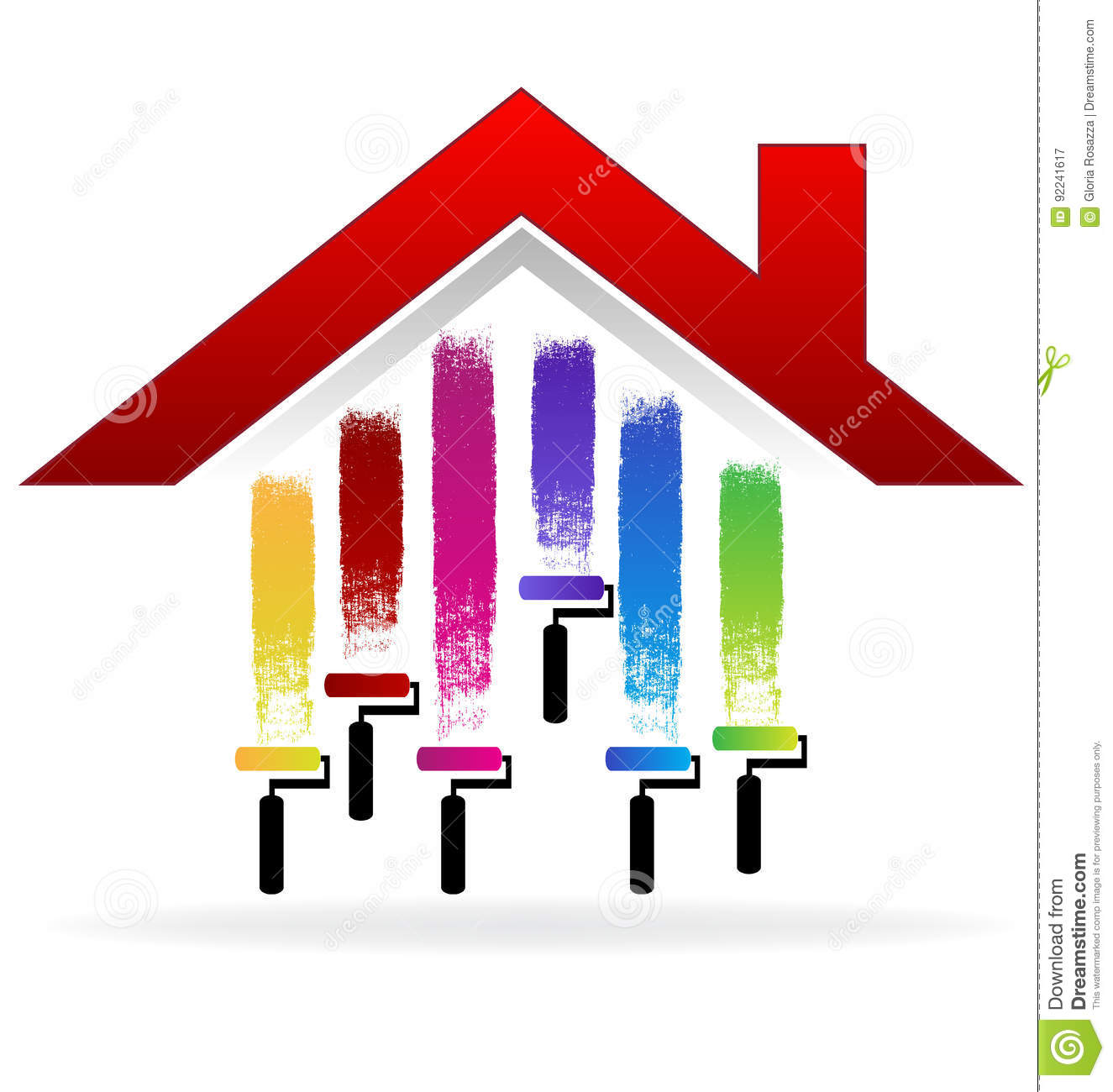 painting a house logo stock vector image of creative
