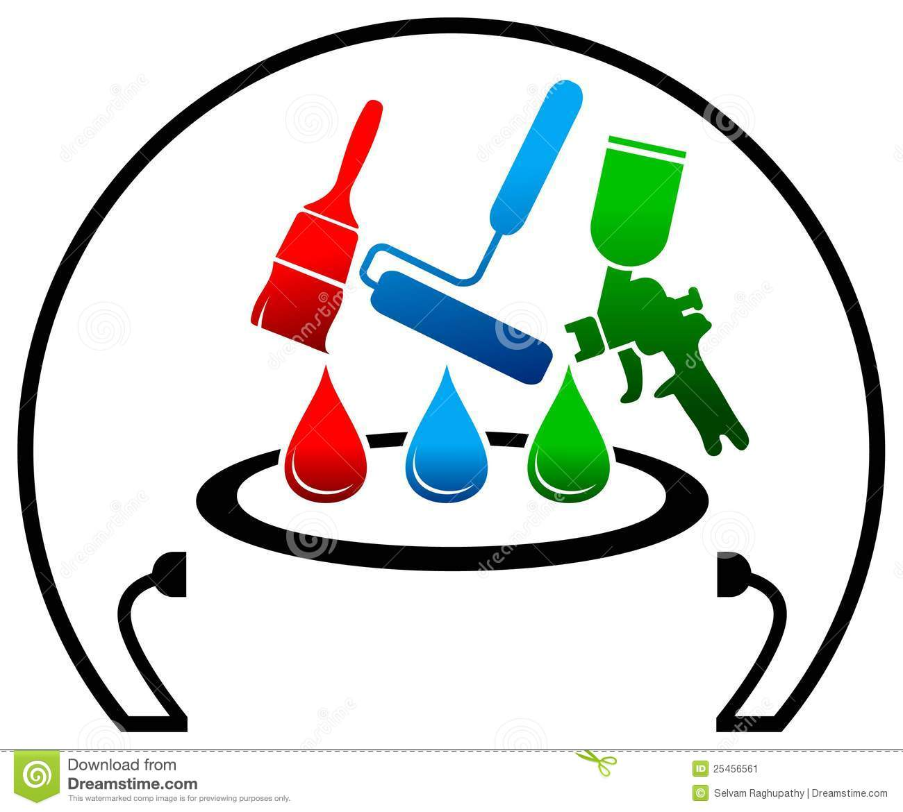 Painting logo stock vector image of maintenance drips for Logo suggestions free