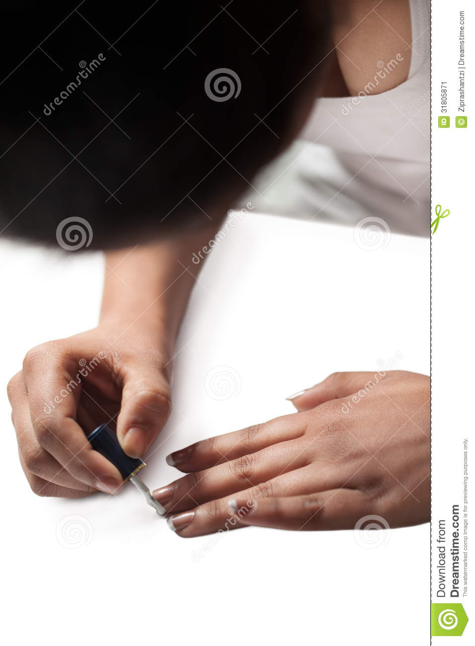 Painting Nails Stock Image