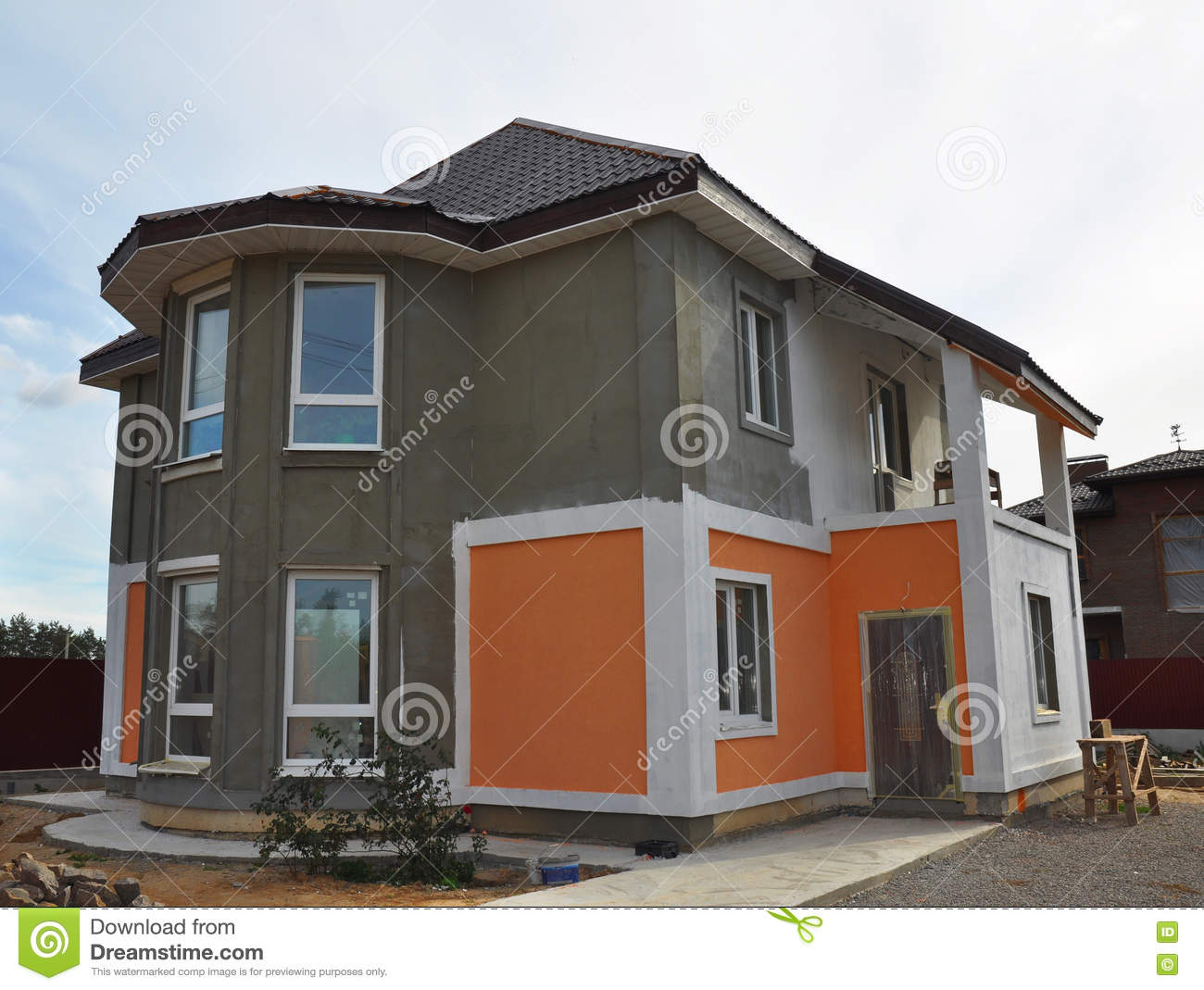 Painting and plastering exterior house wall facade thermal ins stock image image 71463861 How to plaster a house exterior