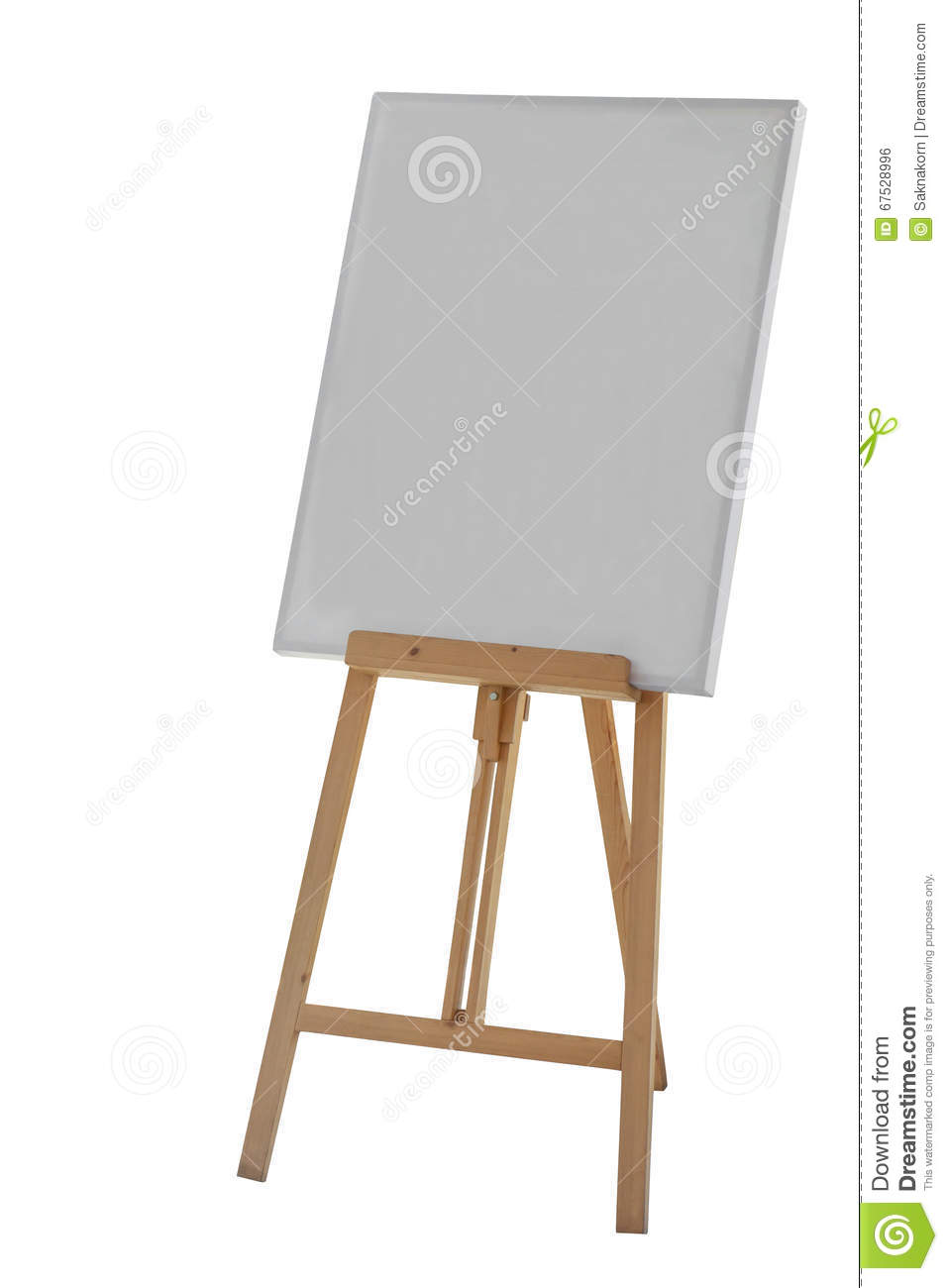 Painting stand wooden easel with blank canvas poster sign for Un stand