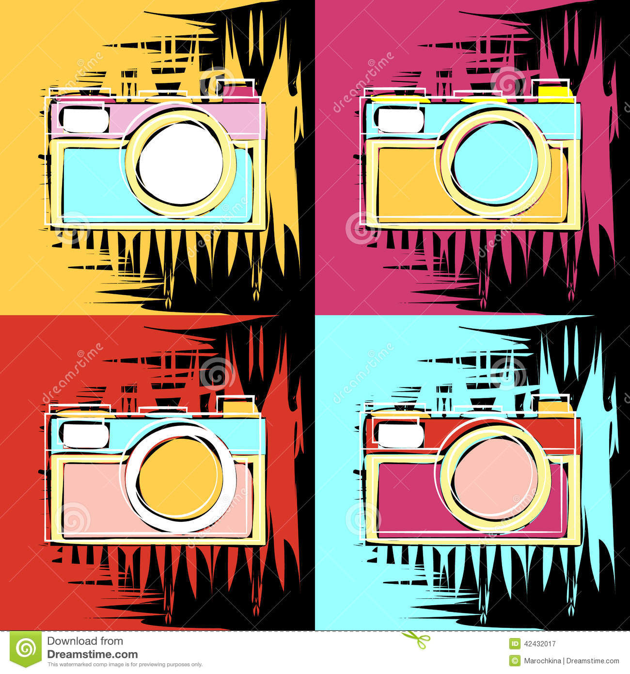Painting In The Style Of Andy Warhol Stock Vector - Image ...