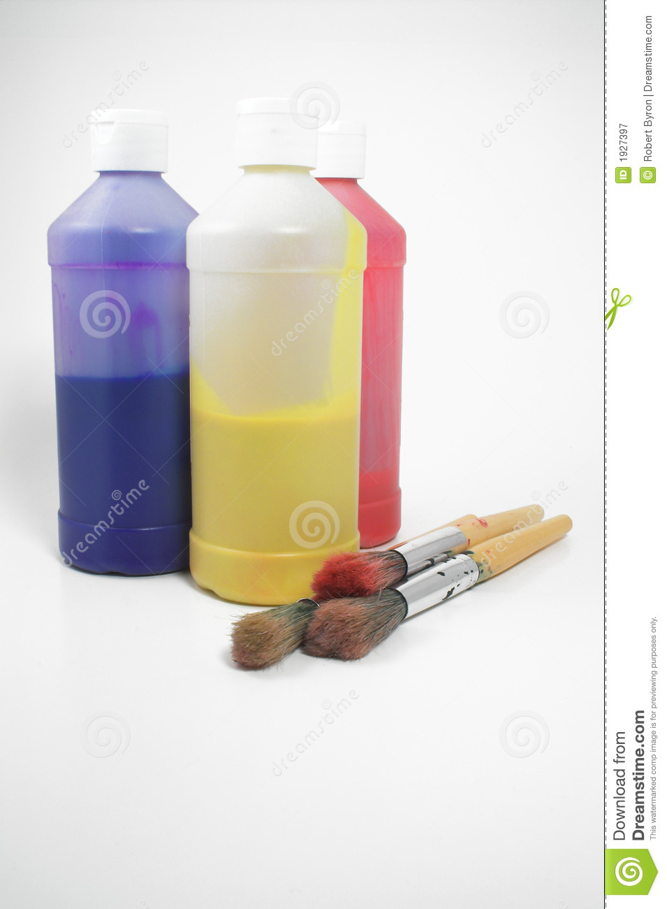 Painting supplies royalty free stock photography image for Bottle painting materials
