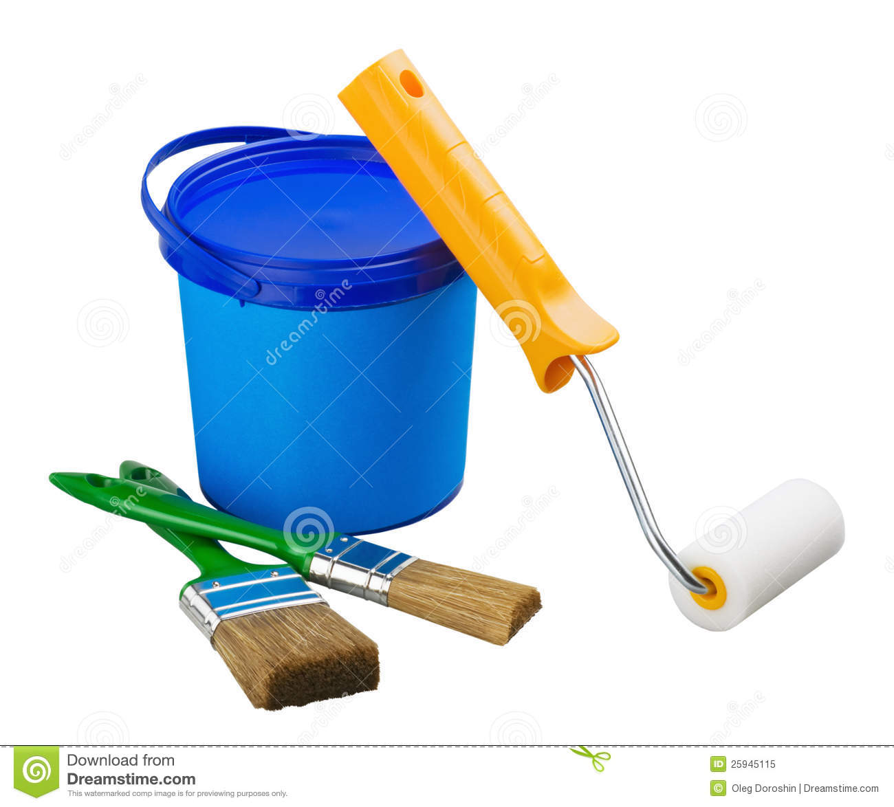 Painting supplies and tools stock image image of objects background 25945115 - Painting tool avis ...
